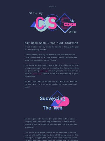 The State of CSS 2020 Thumbnail Preview