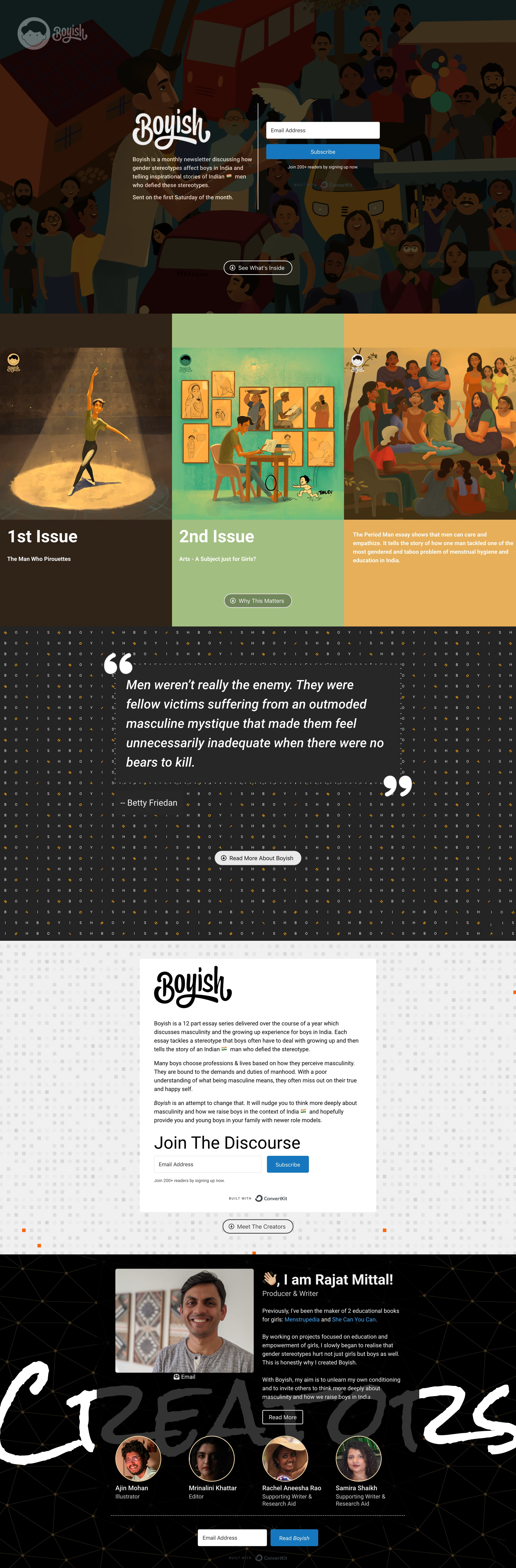 Boyish Website Screenshot