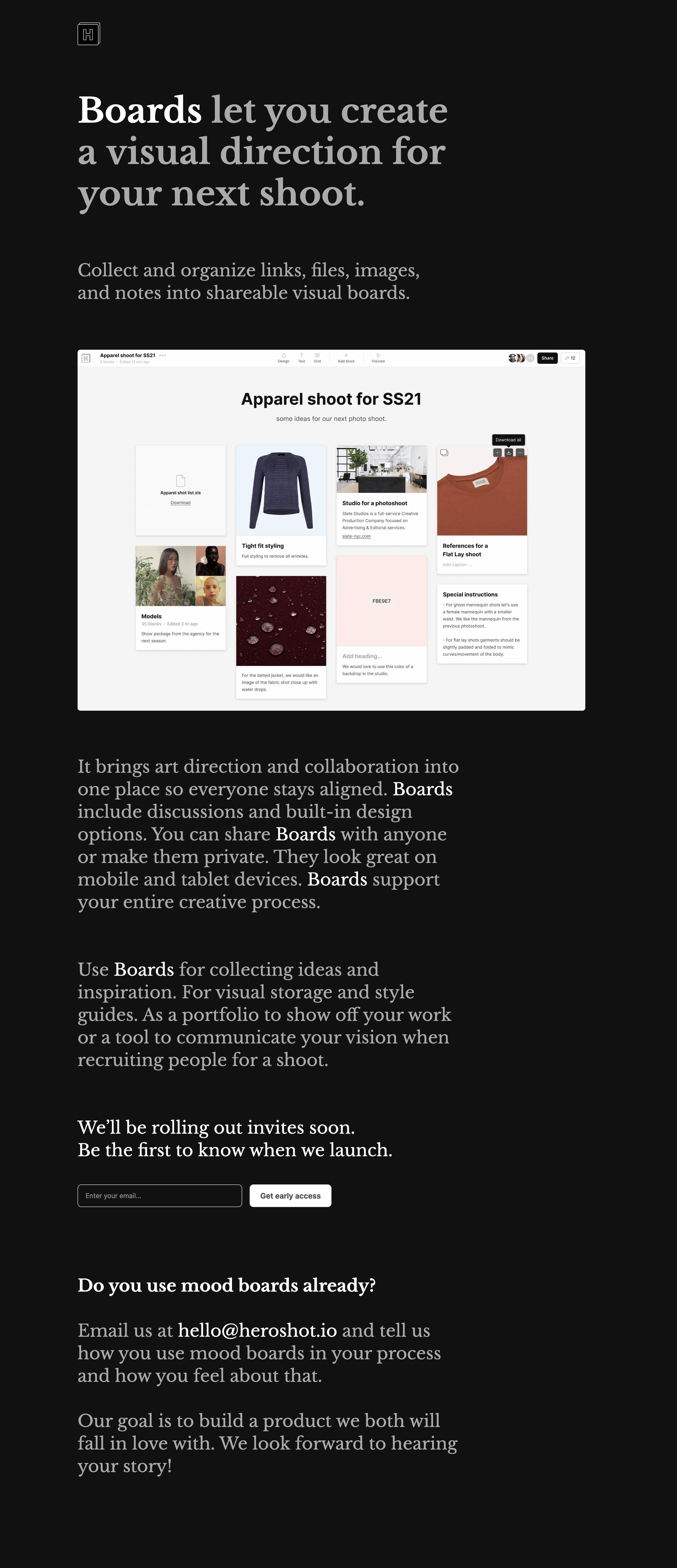 Boards Website Screenshot
