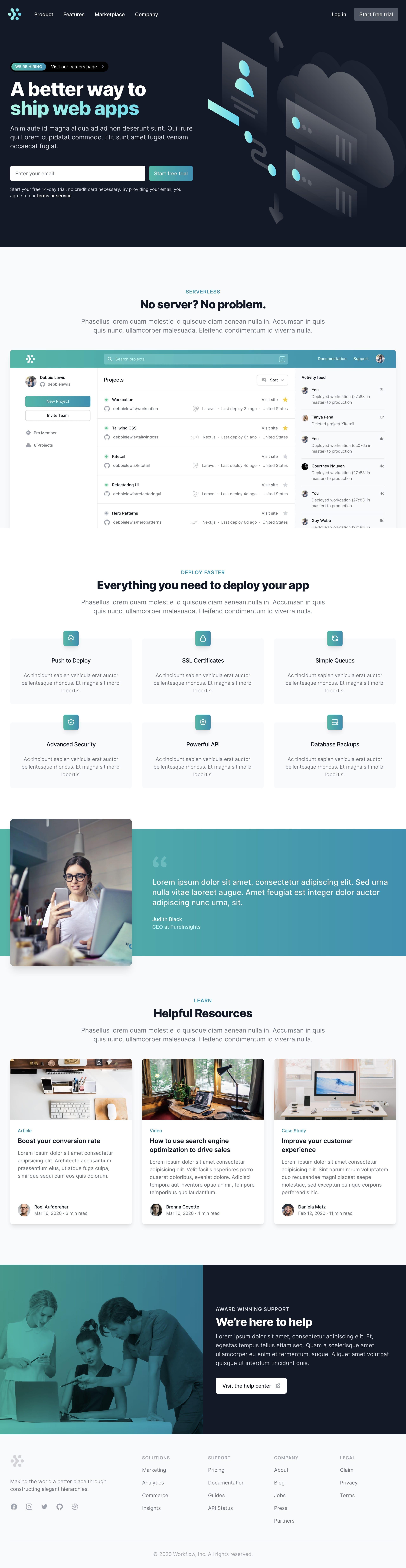 Tailwind UI – Marketing Page Website Screenshot
