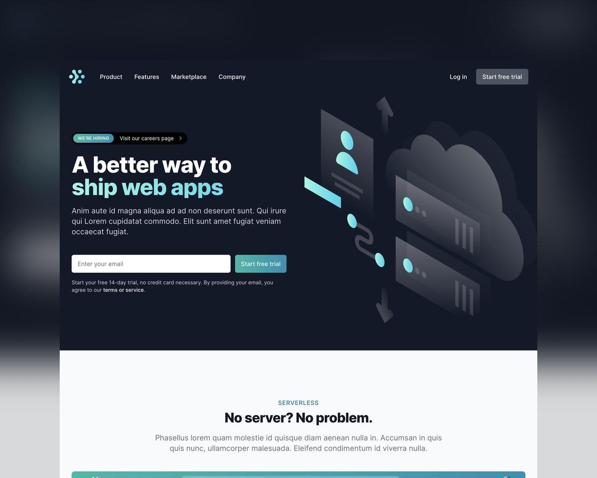 Tailwind UI – Marketing Page