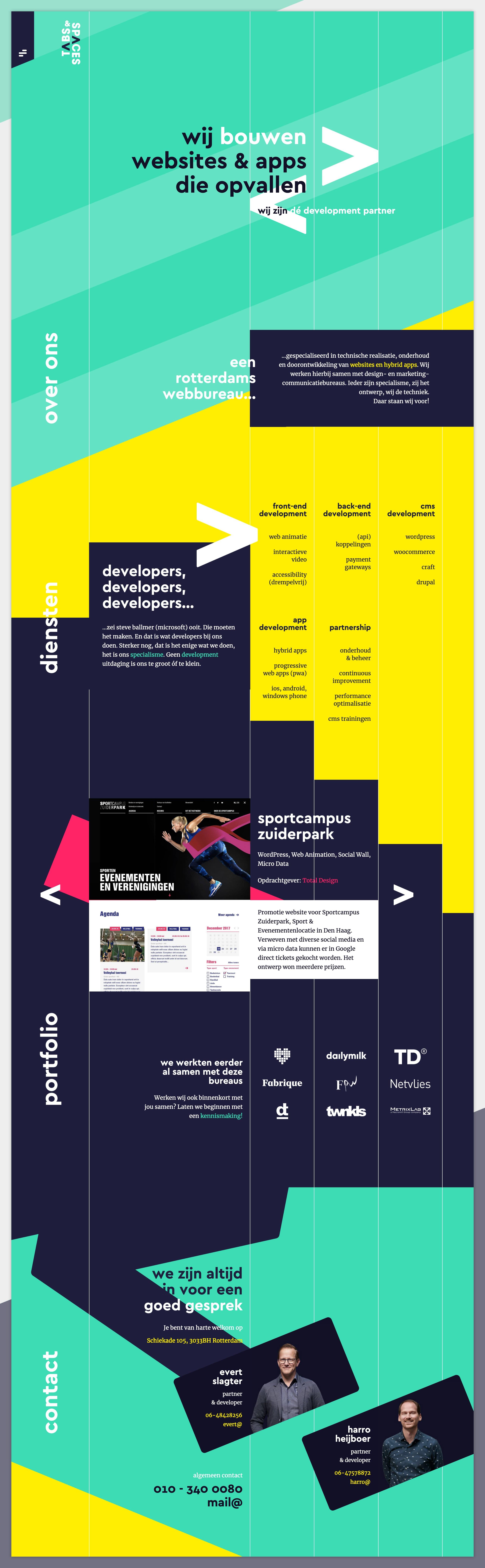 Tabs & Spaces Website Screenshot