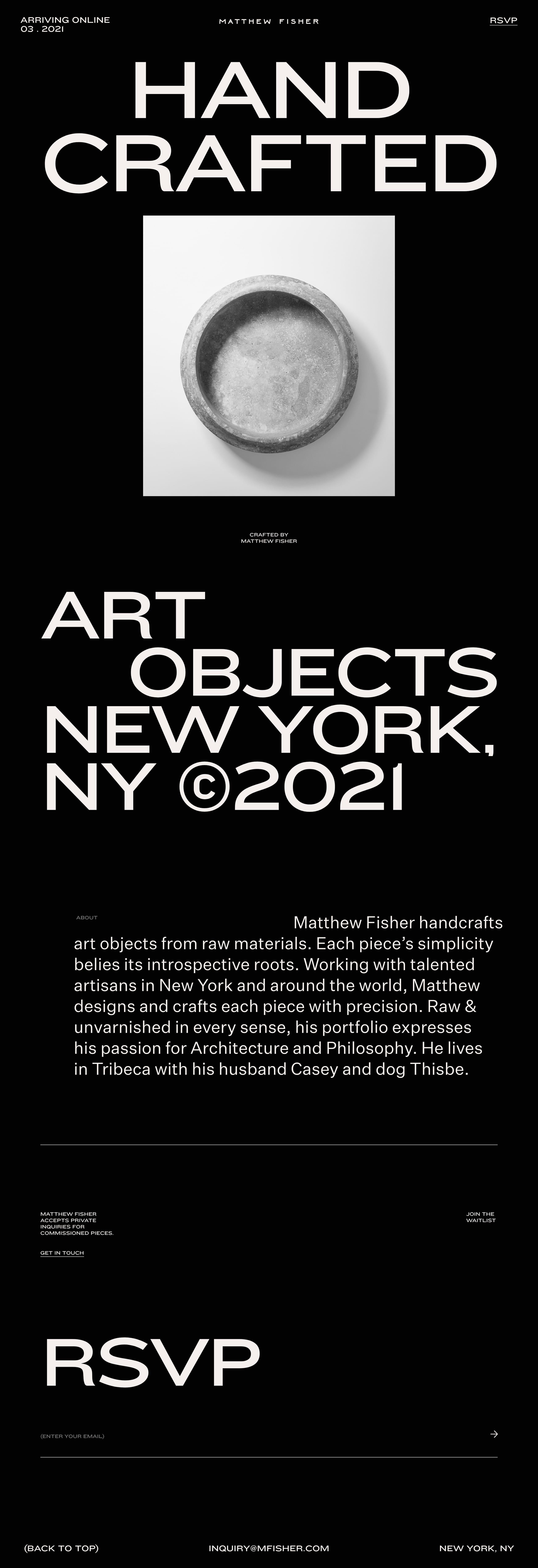 Matthew Fisher Website Screenshot