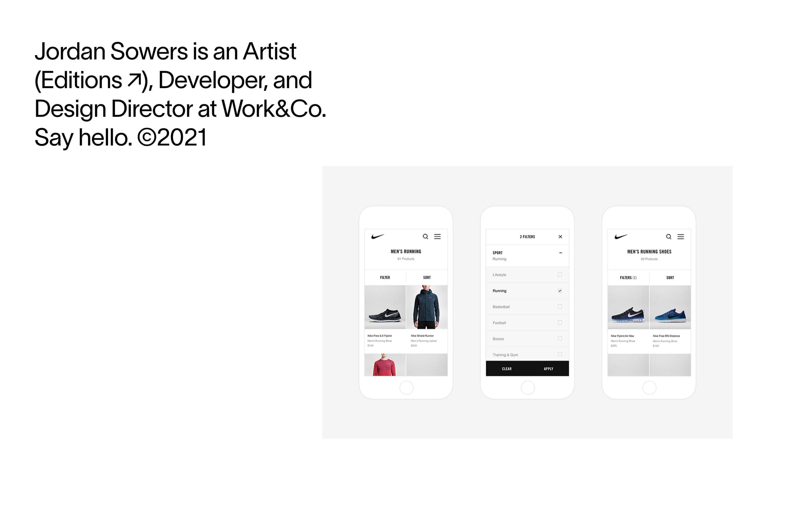 Jordan Sowers Website Screenshot
