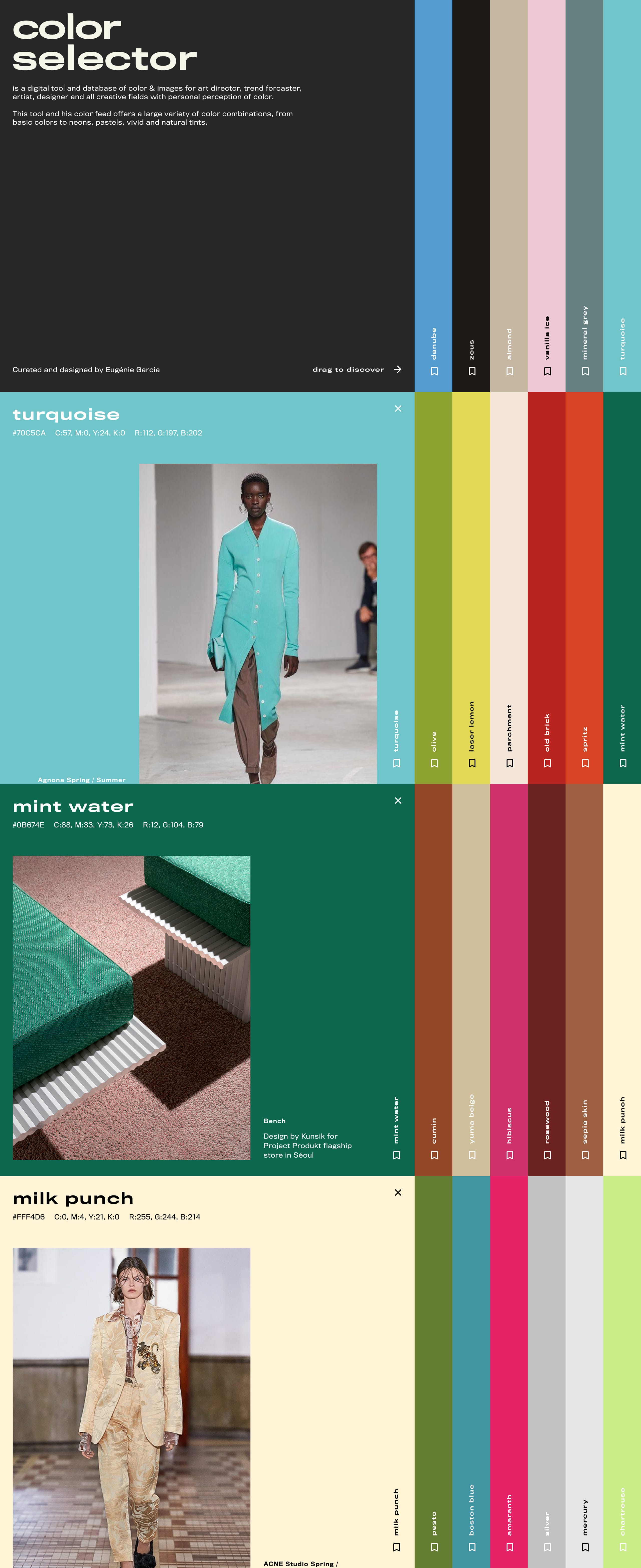Color Selector Website Screenshot