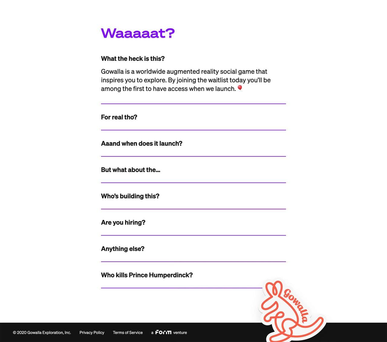 FAQ Section - Gowalla Screenshot