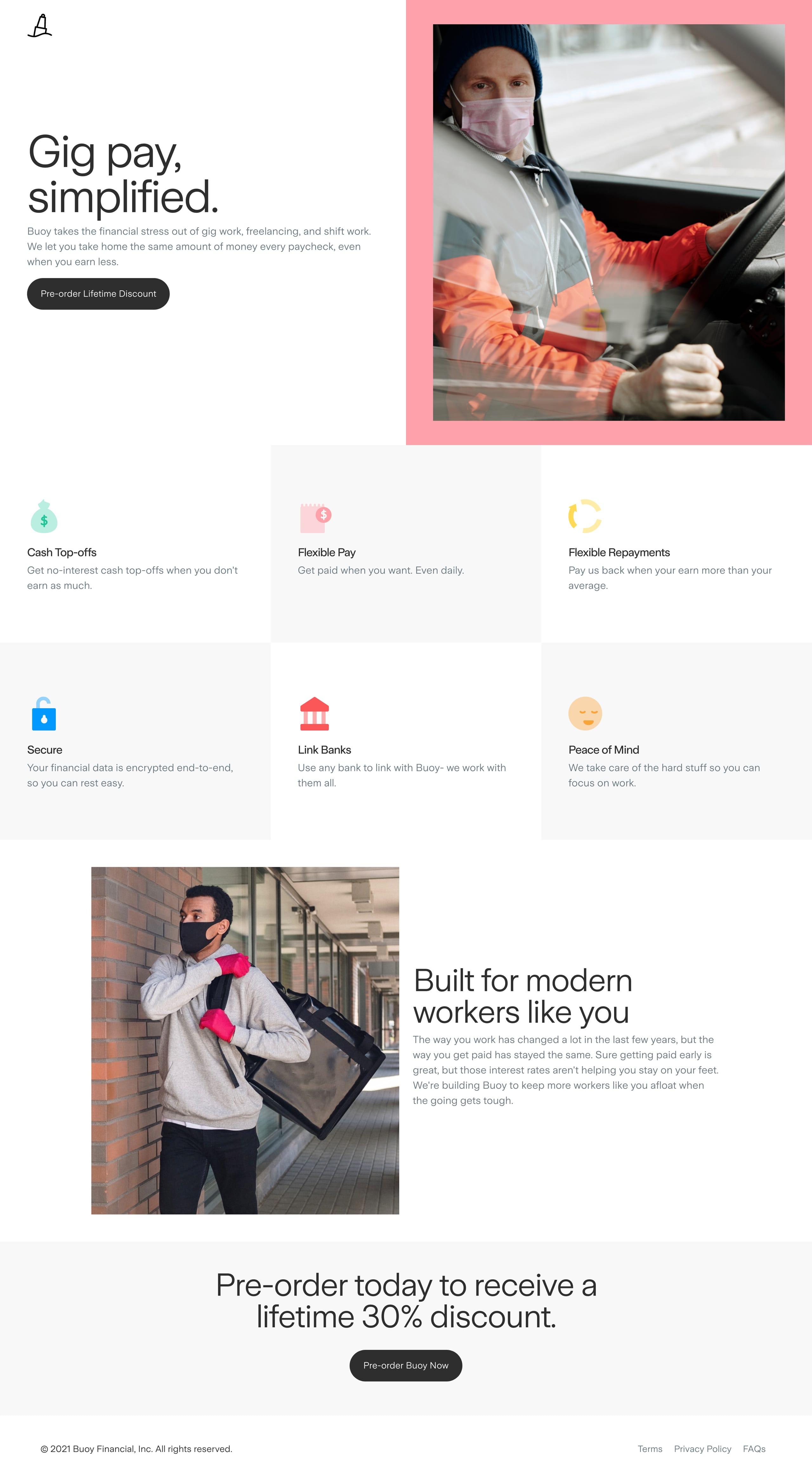 Buoy Website Screenshot