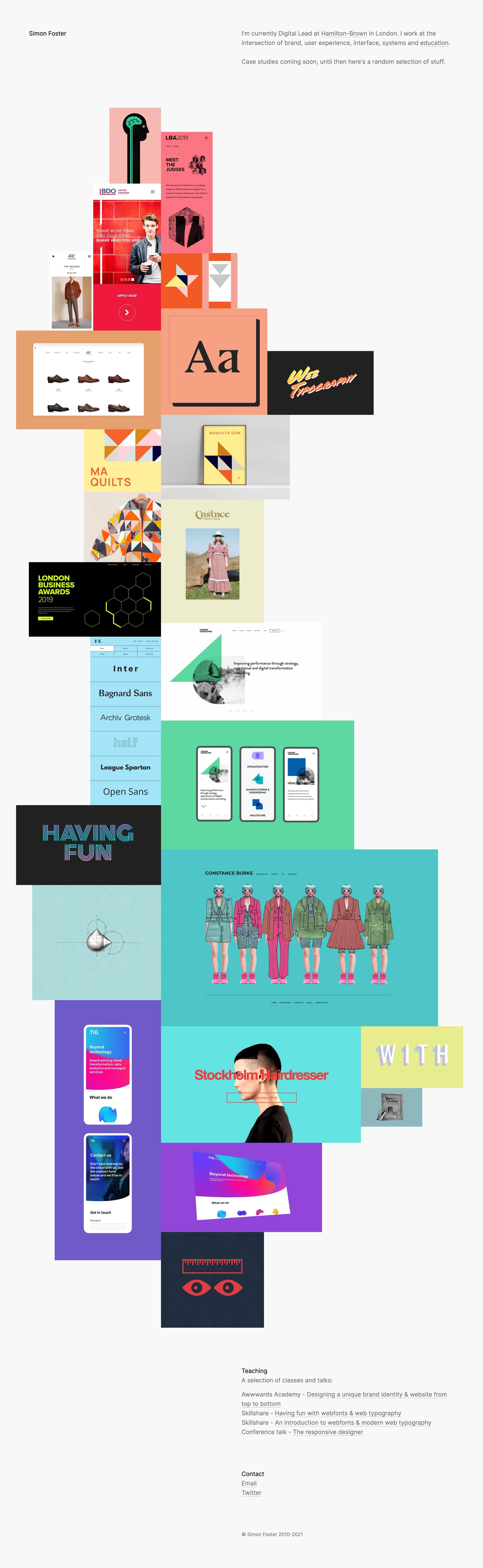 Simon Foster Website Screenshot