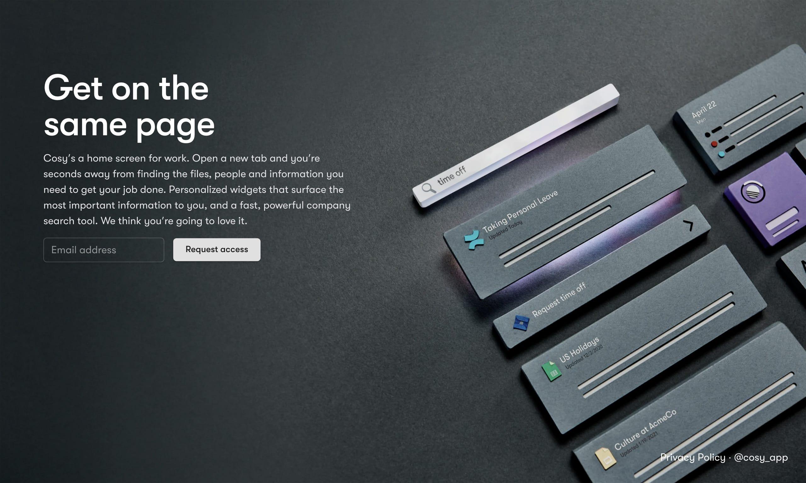 Cosy Website Screenshot