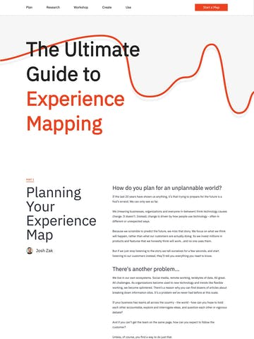 Experience Map Thumbnail Preview