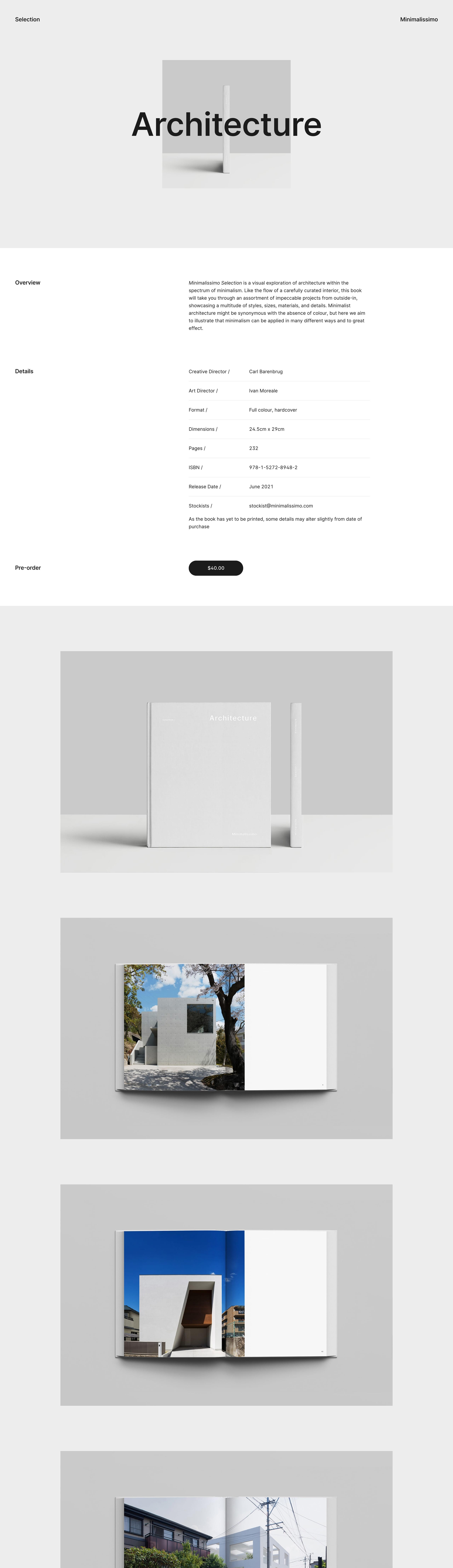 Minimalissimo – Selection Website Screenshot
