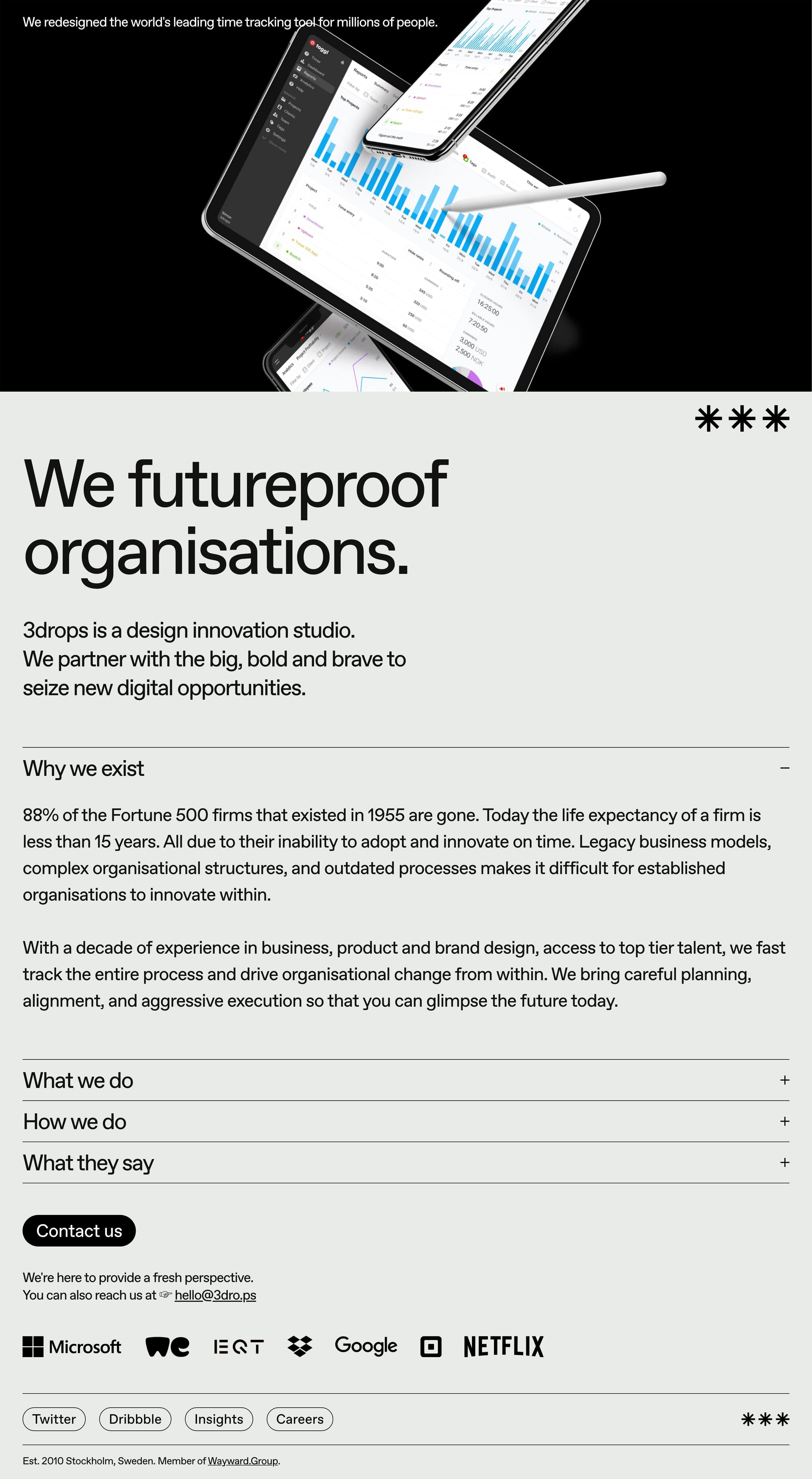 3drops Website Screenshot