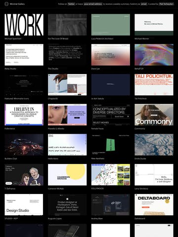Minimal Gallery Thumbnail Preview