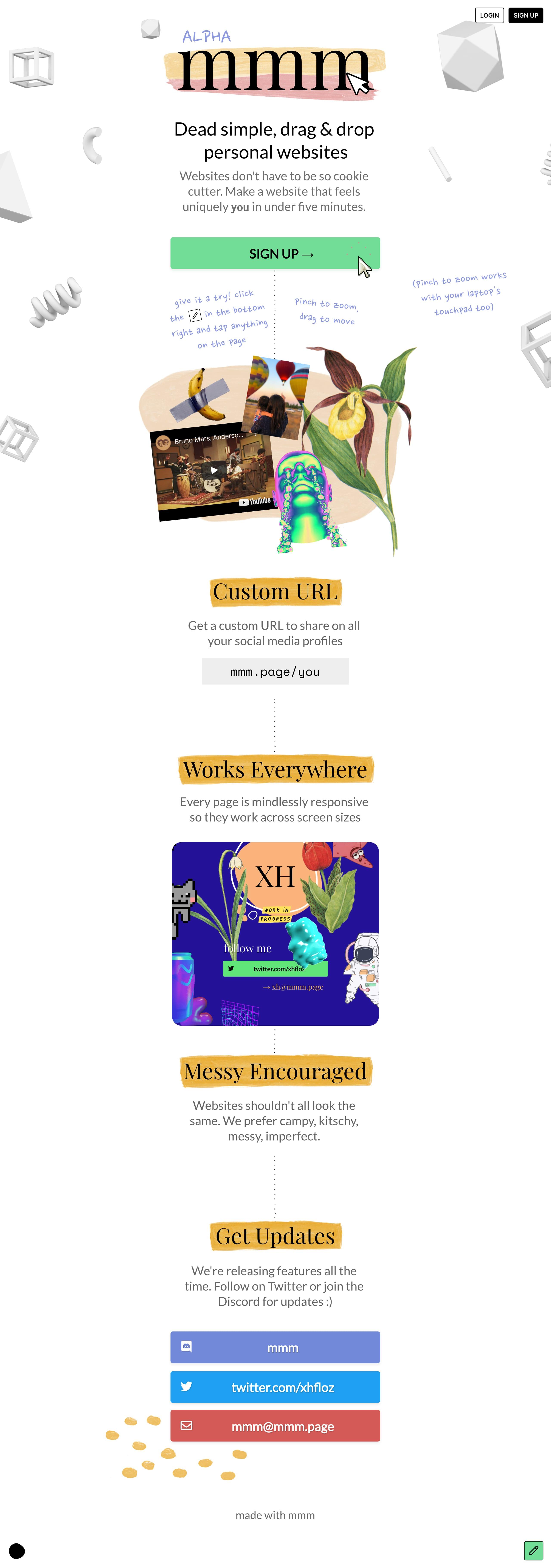 mmm Website Screenshot
