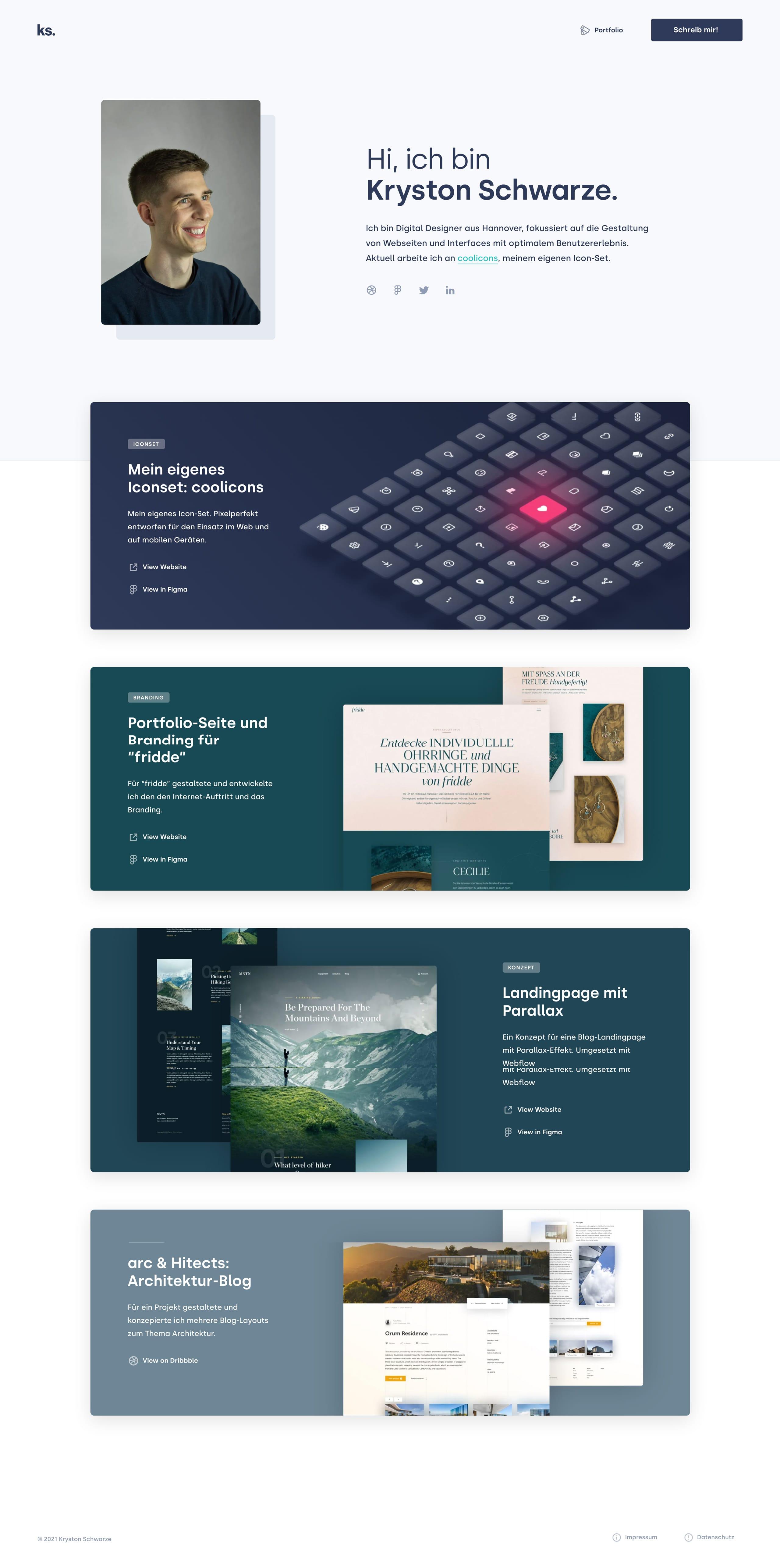 Kryston Schwarze Website Screenshot