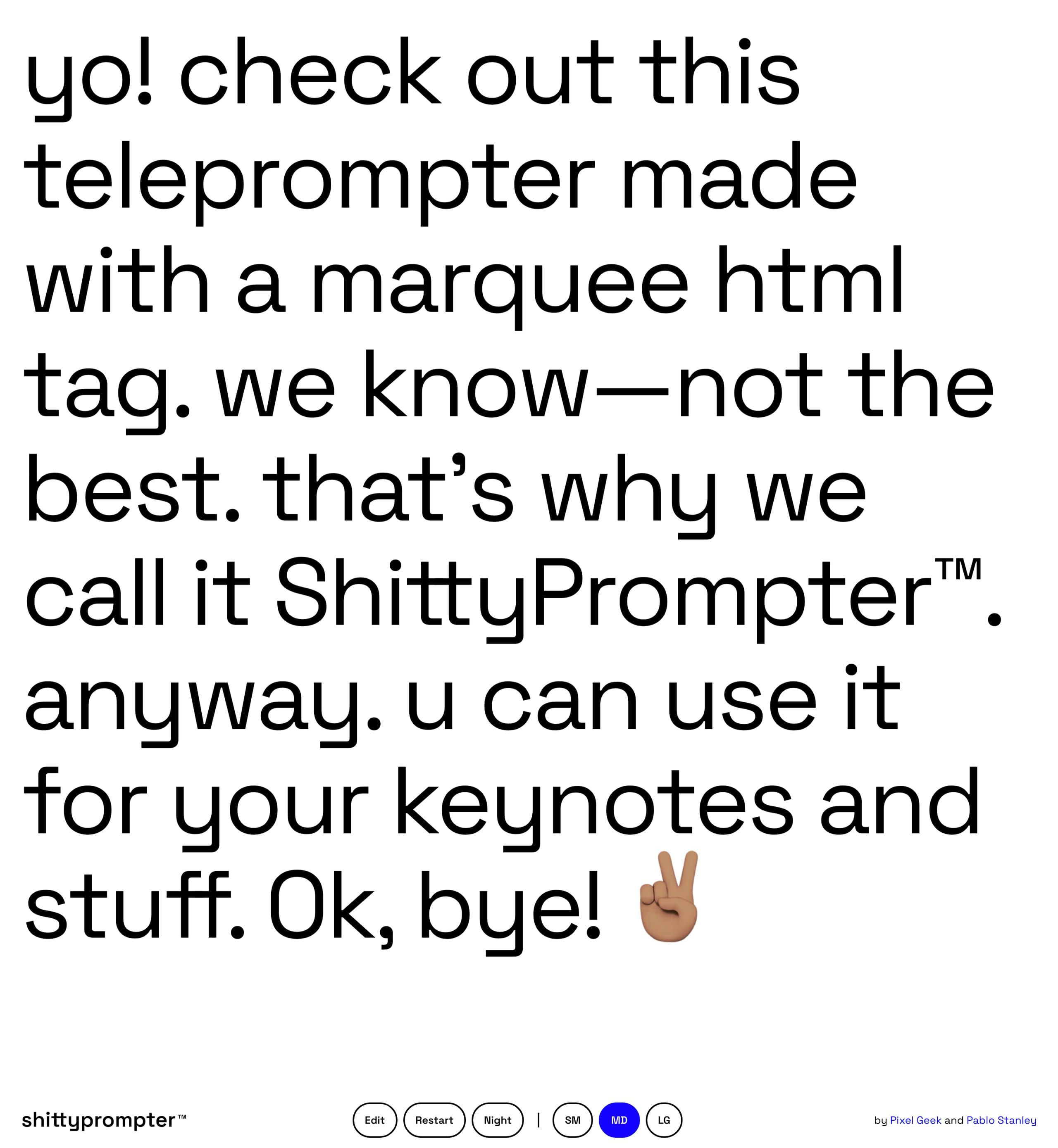 ShittyPrompter Website Screenshot