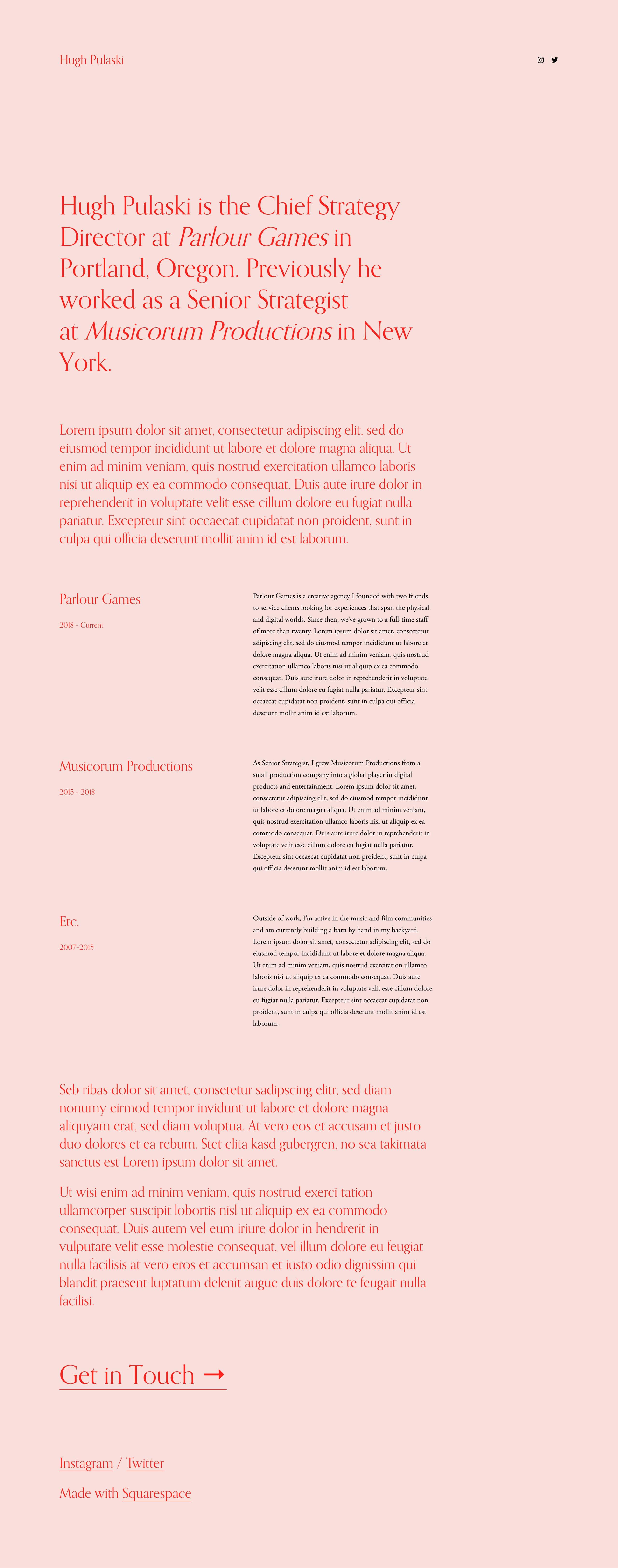 Pulaski Website Screenshot