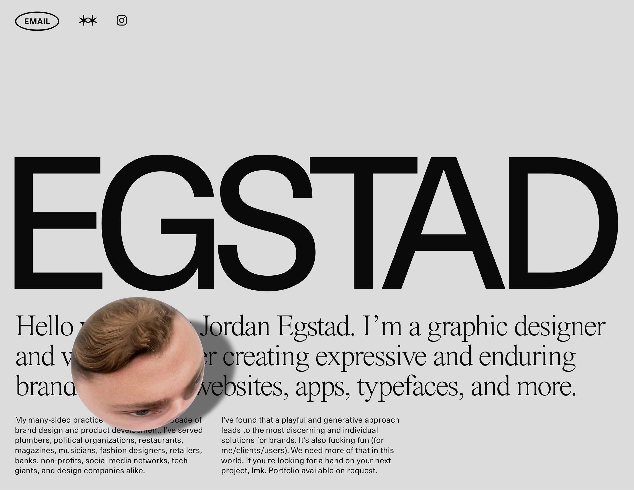 Egstad Website Screenshot