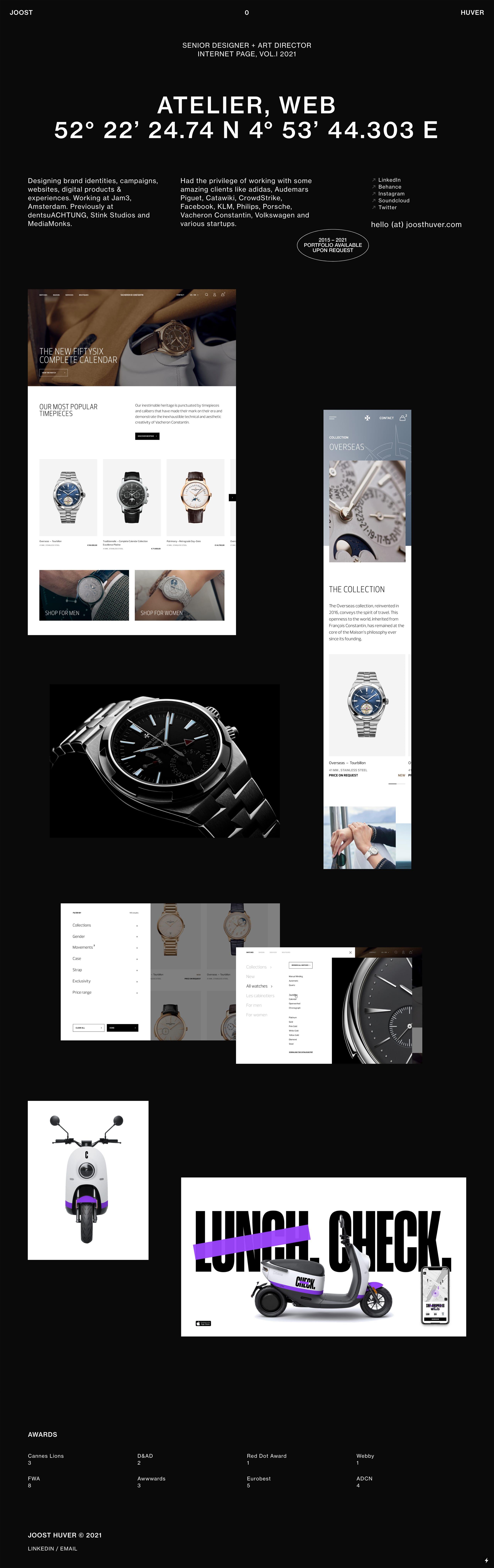 Joost Huver Website Screenshot