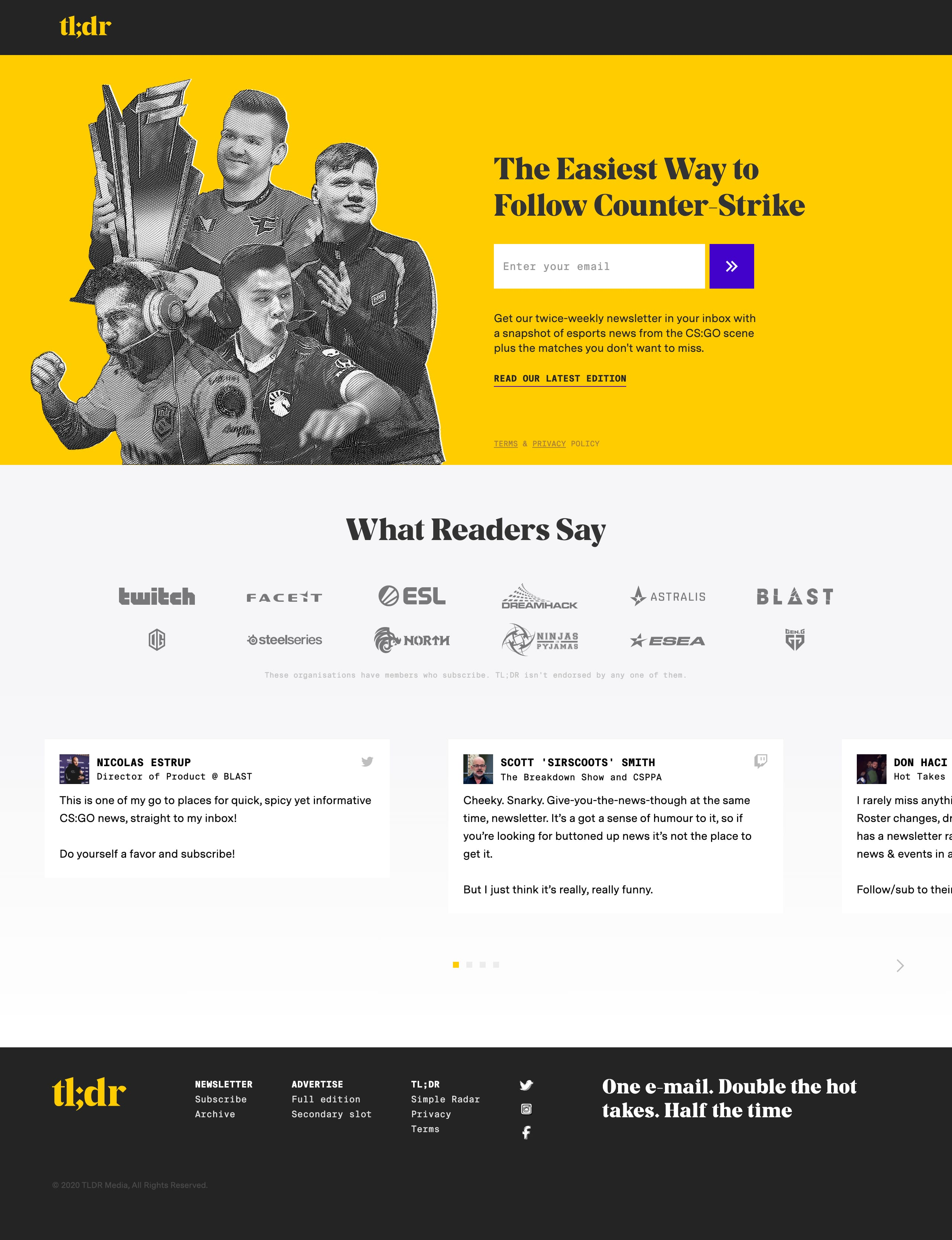 tl;dr Website Screenshot