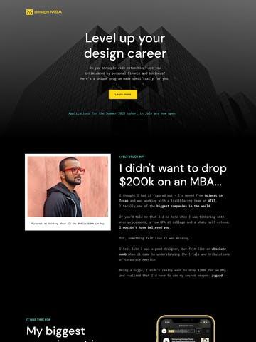 design MBA Cohort Thumbnail Preview