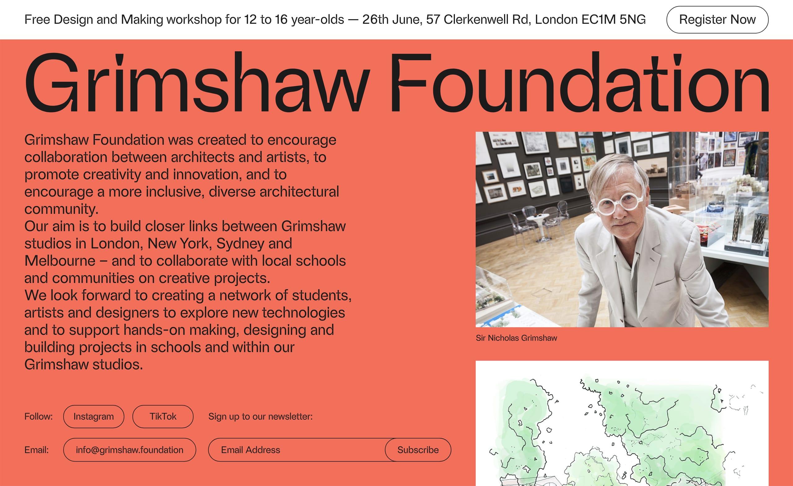 Grimshaw Foundation Website Screenshot