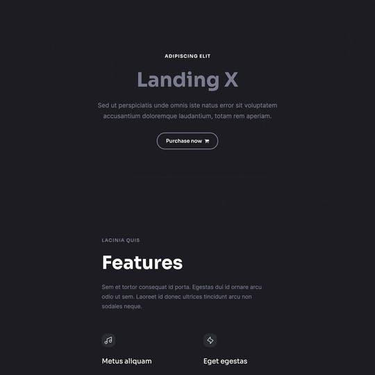 Landing X Thumbnail Preview