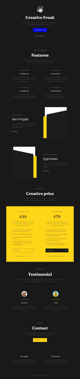 Creative Freak Website Screenshot