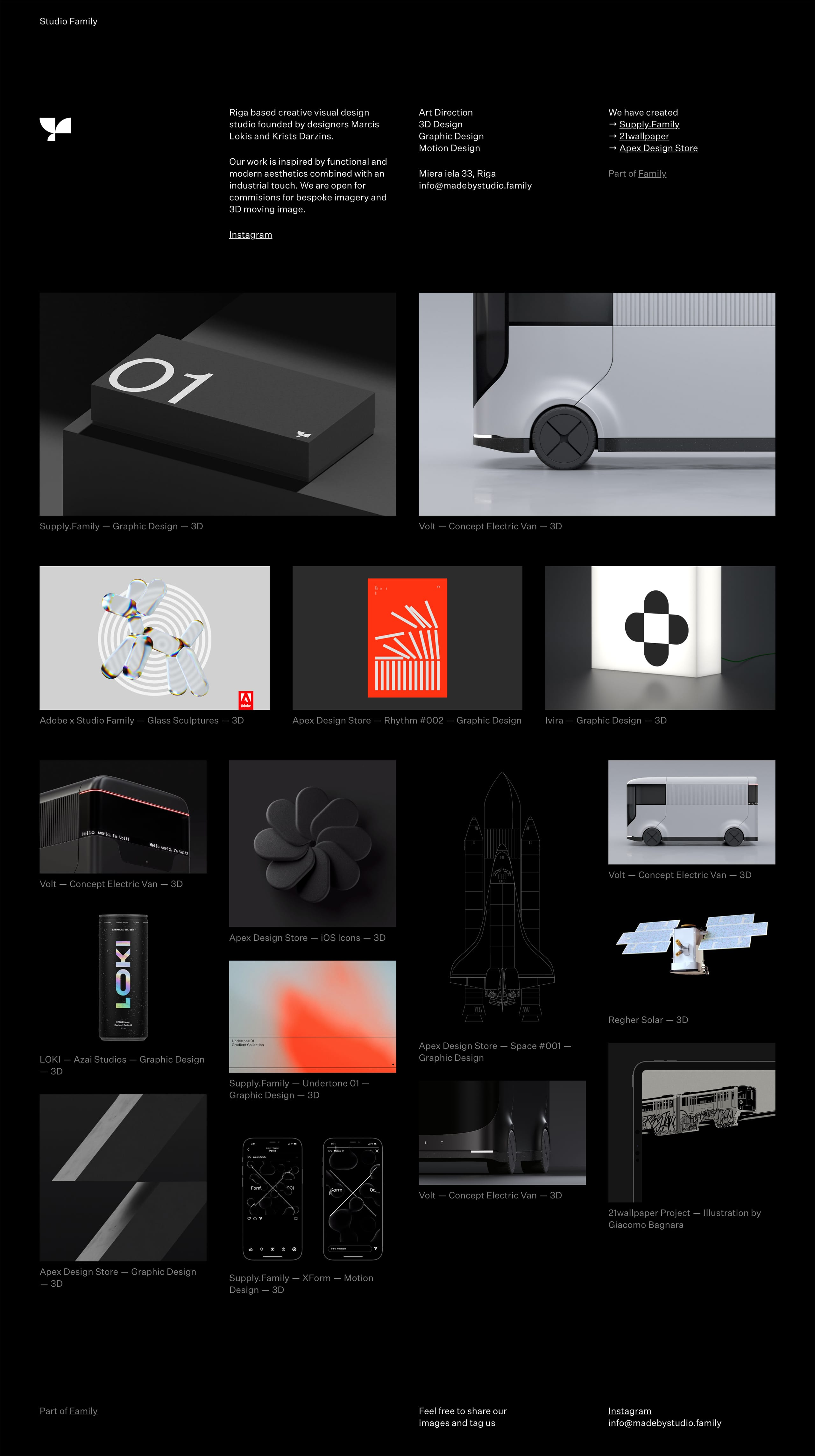 Studio Family Website Screenshot