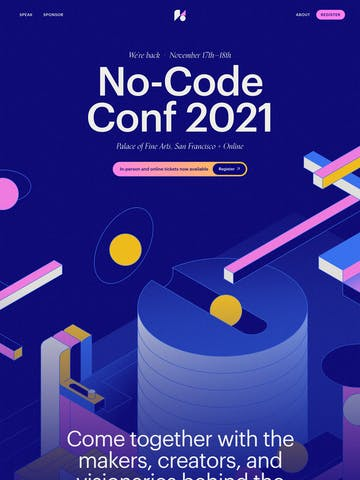No-Code Conference 2021 Thumbnail Preview
