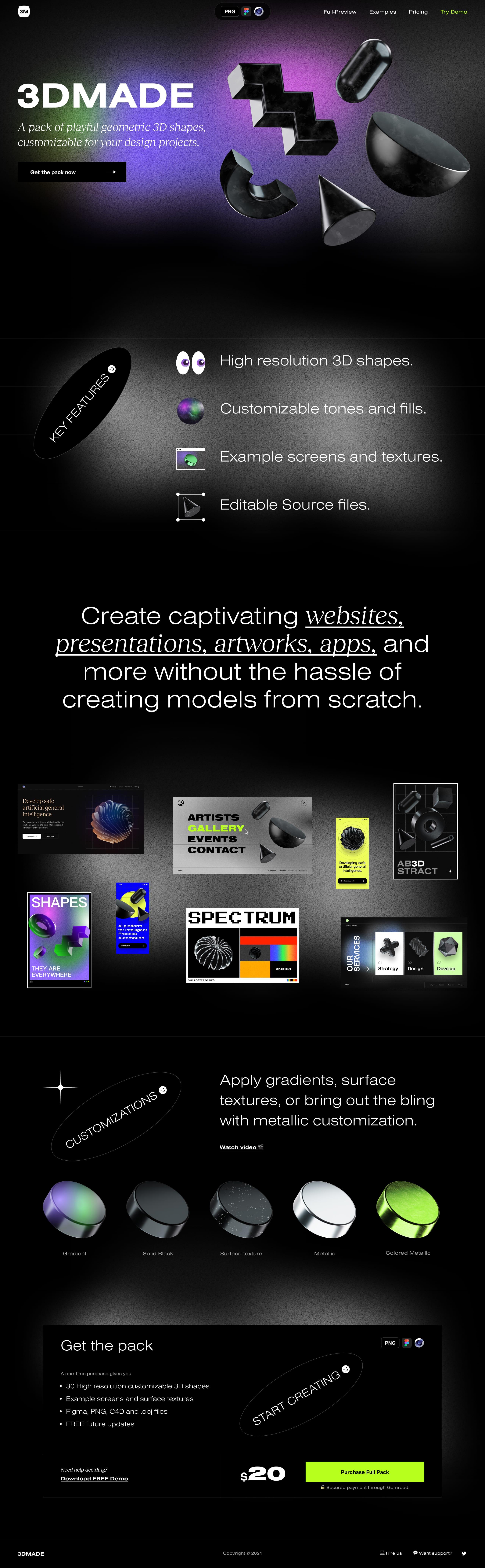 3DMADE Website Screenshot