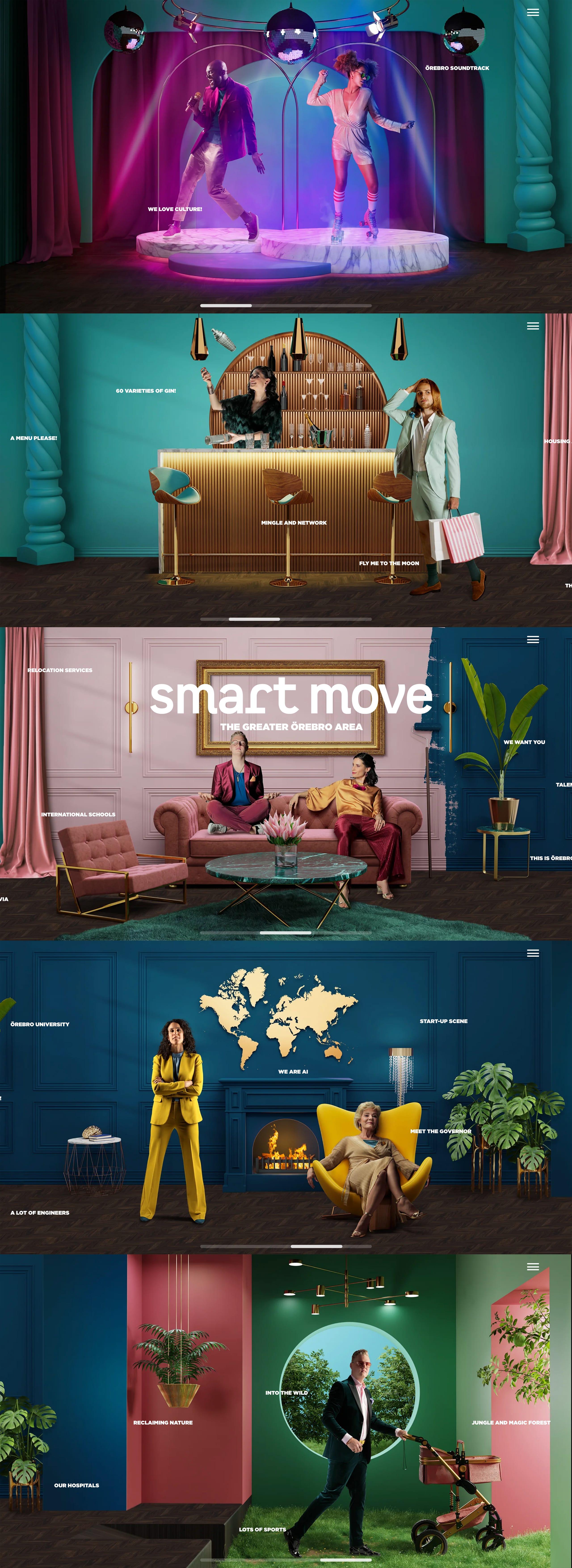 Smart Move – The Greater Örebro Area Website Screenshot