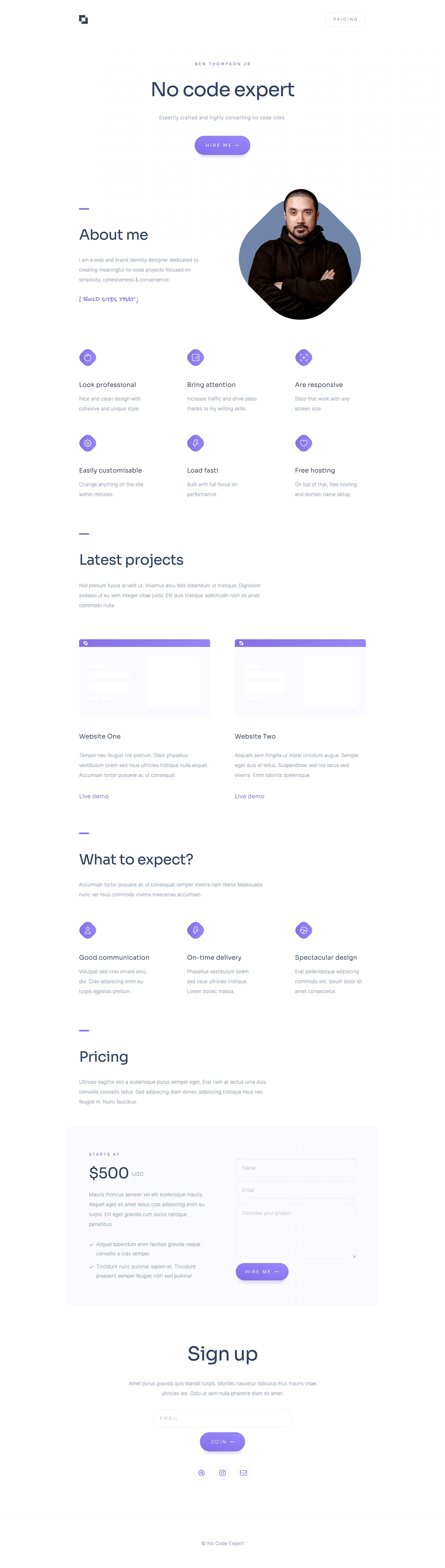 Freelancer Website Screenshot