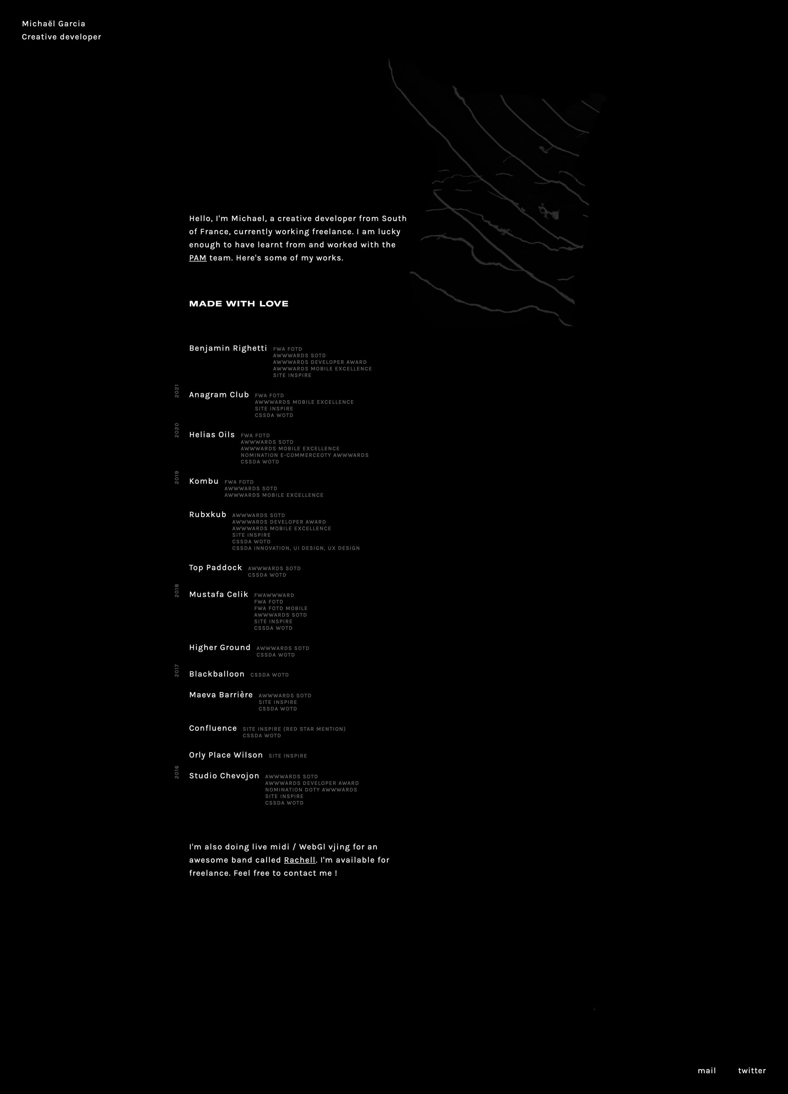 Michaël Garcia Website Screenshot