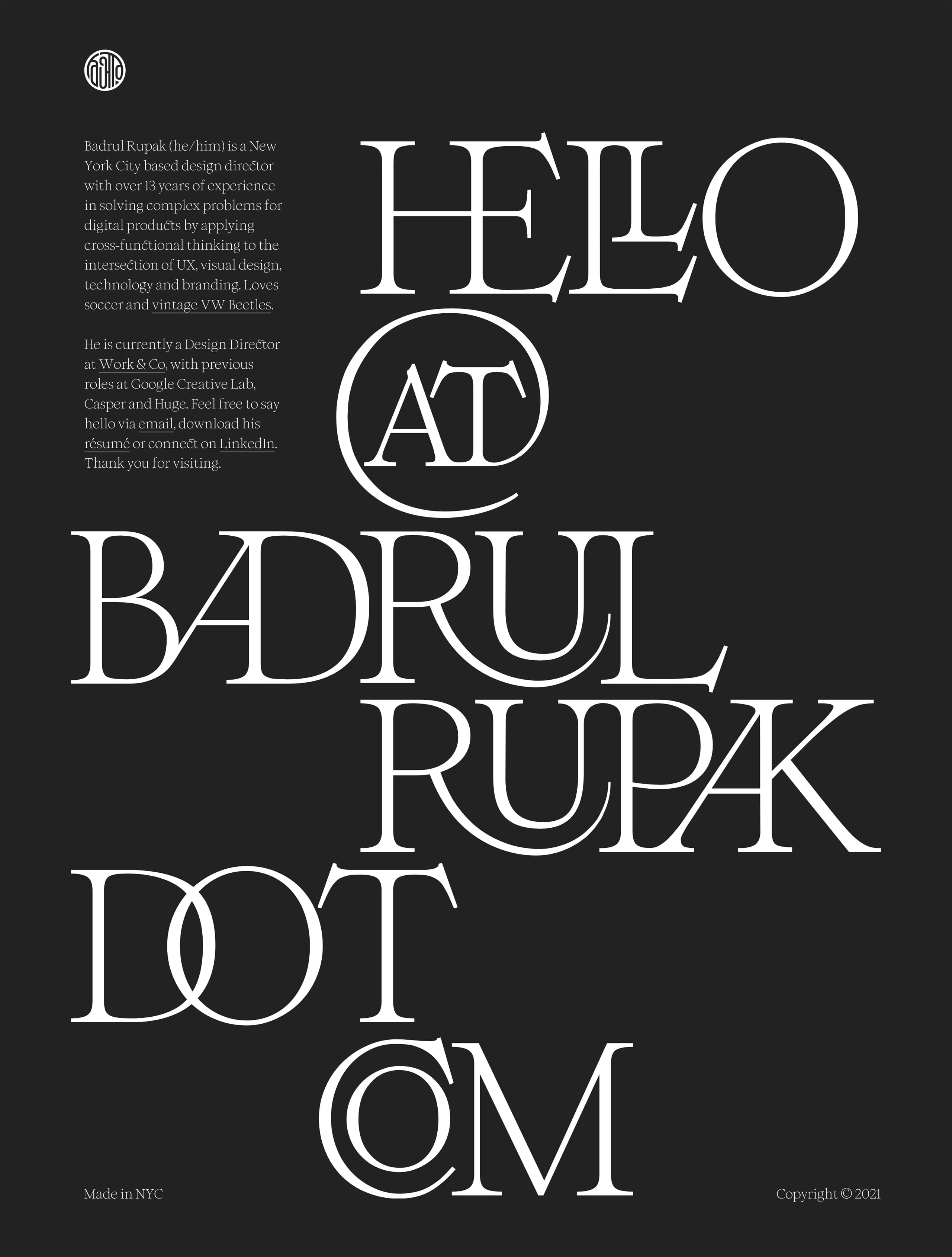 Badrul Rupak Website Screenshot