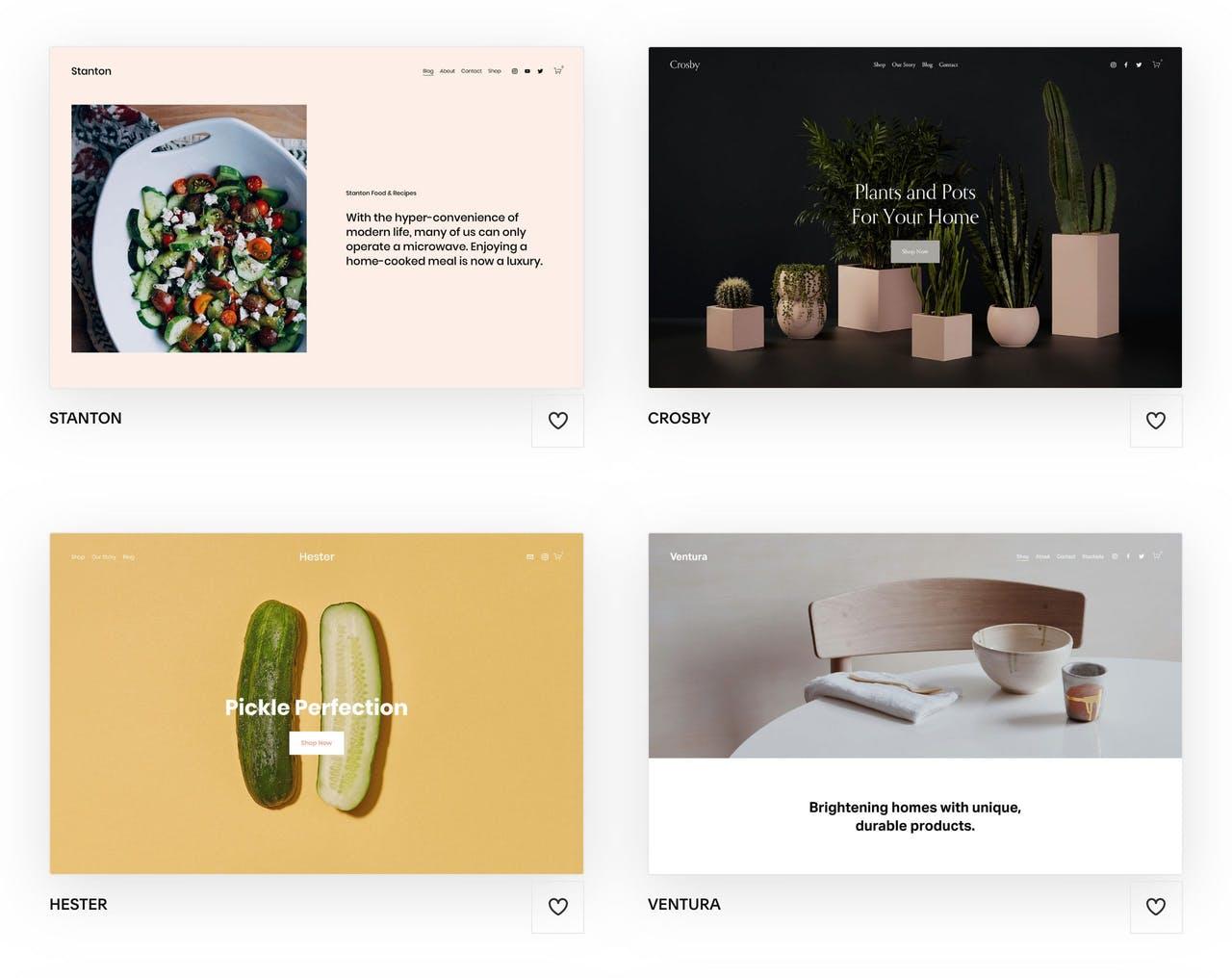 Squarespace Commerce Templates Screenshot