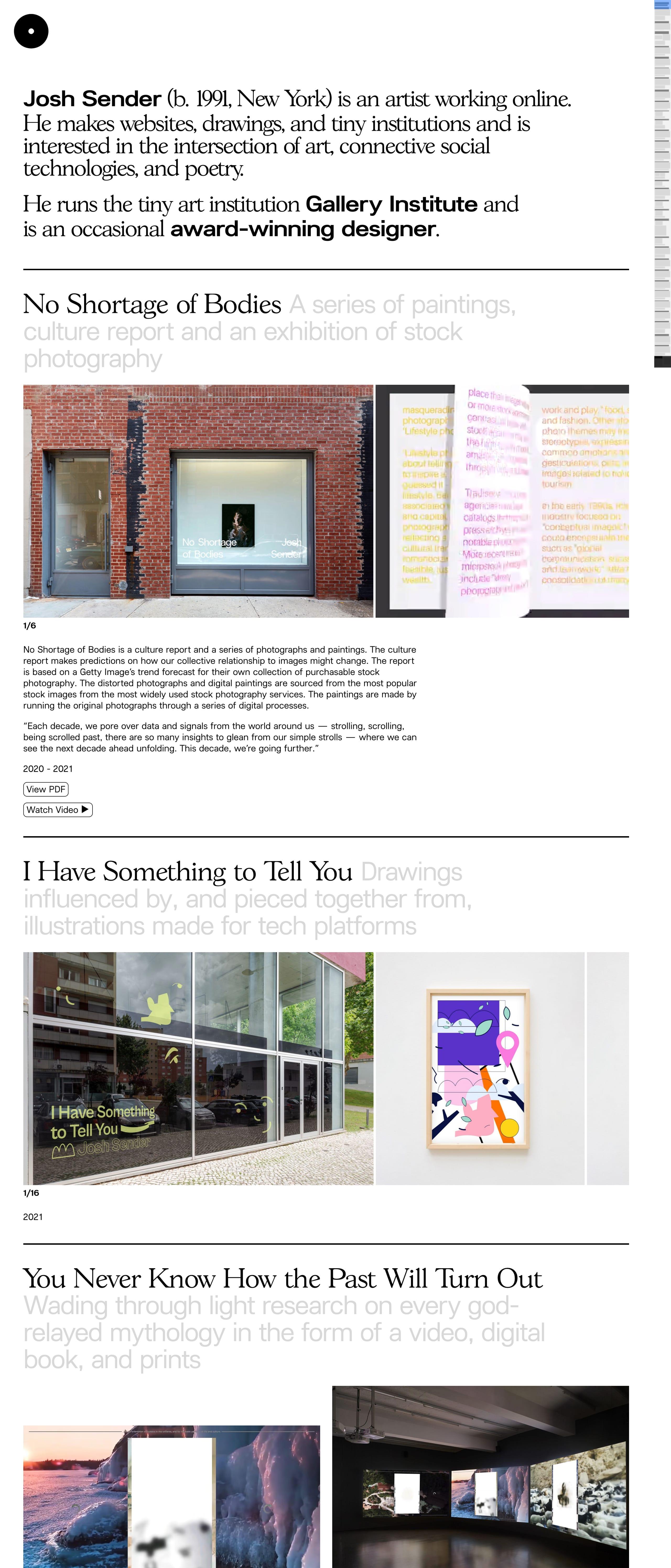 Josh Sender Website Screenshot