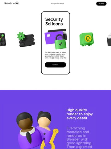 Security 3D Icons Thumbnail Preview