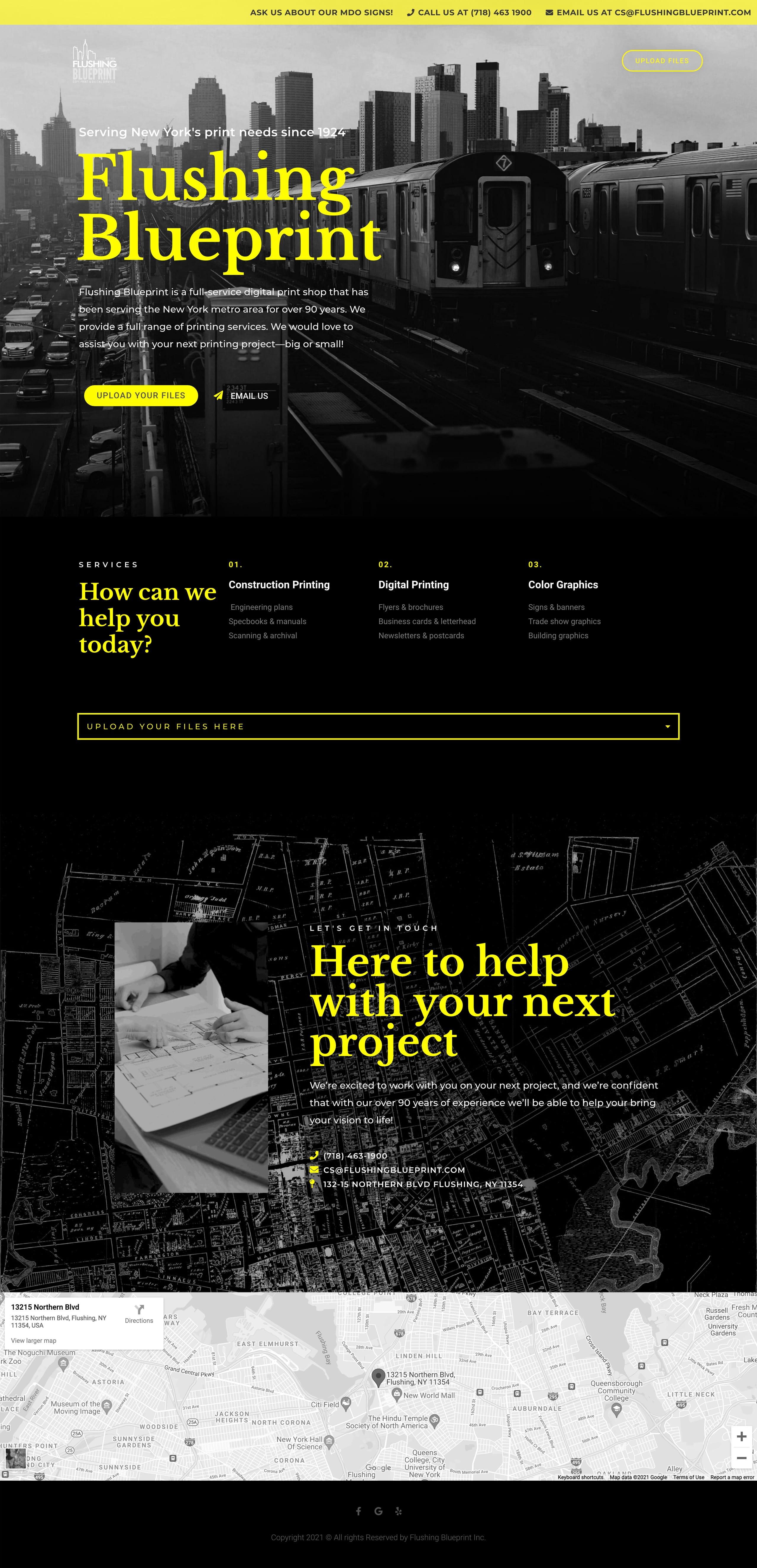 Flushing Blueprint Website Screenshot
