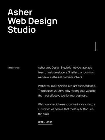 Asher Web Design Studio Thumbnail Preview