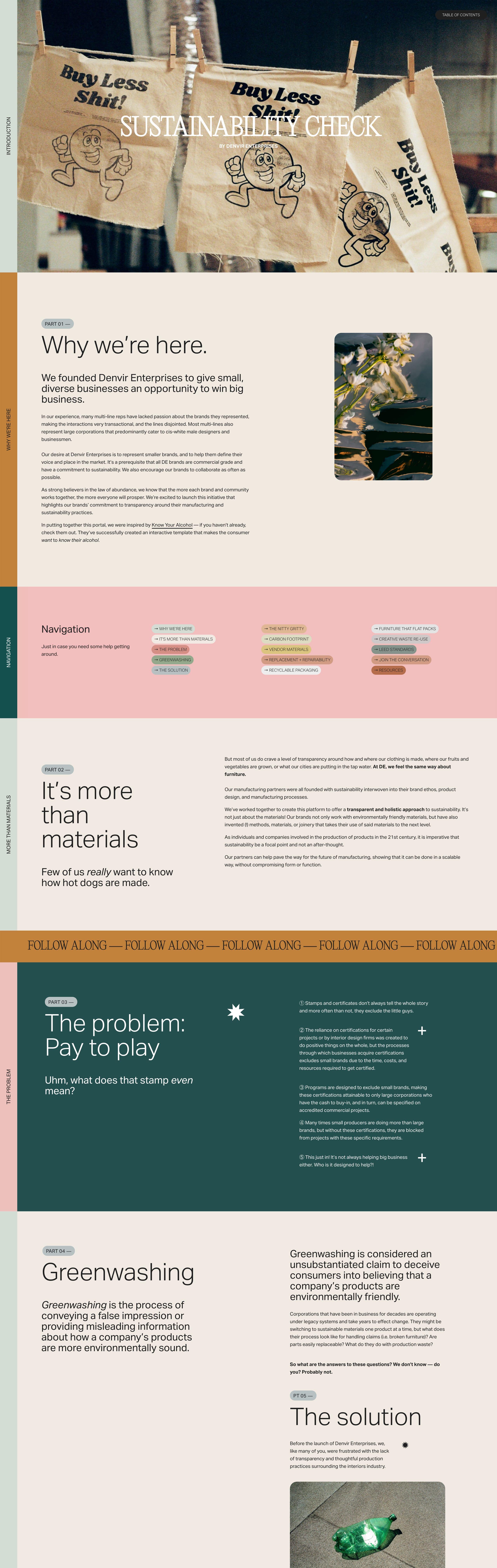Sustainability Check Website Screenshot