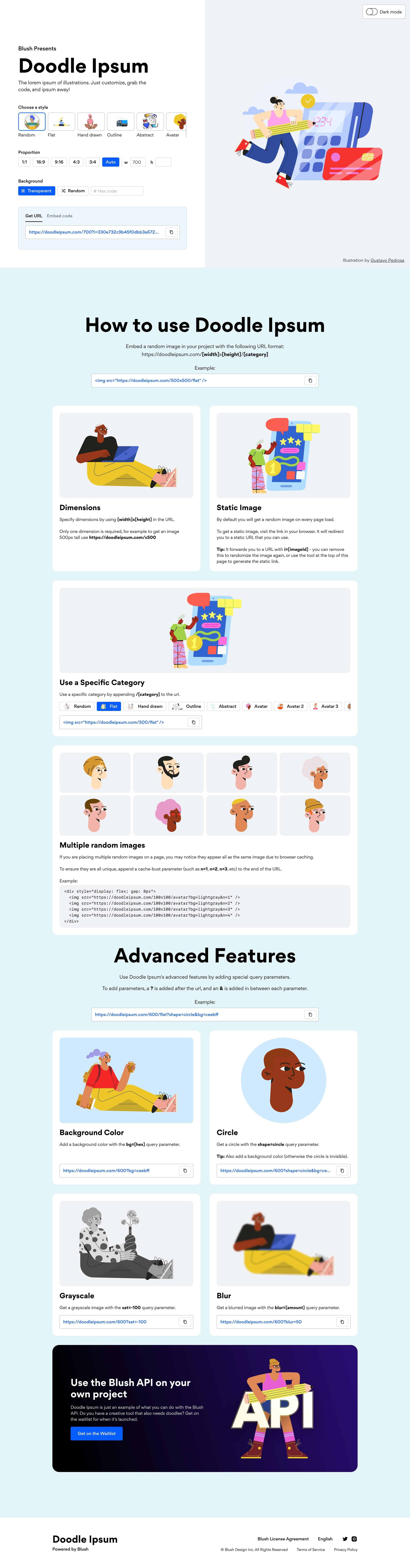 Doodle Ipsum Website Screenshot