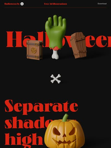Halloween 3D Icons Thumbnail Preview