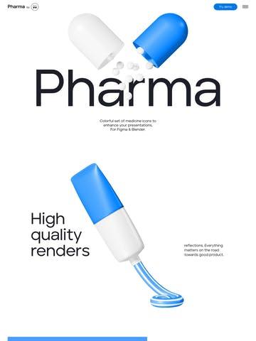 Pharma 3D Icons Thumbnail Preview