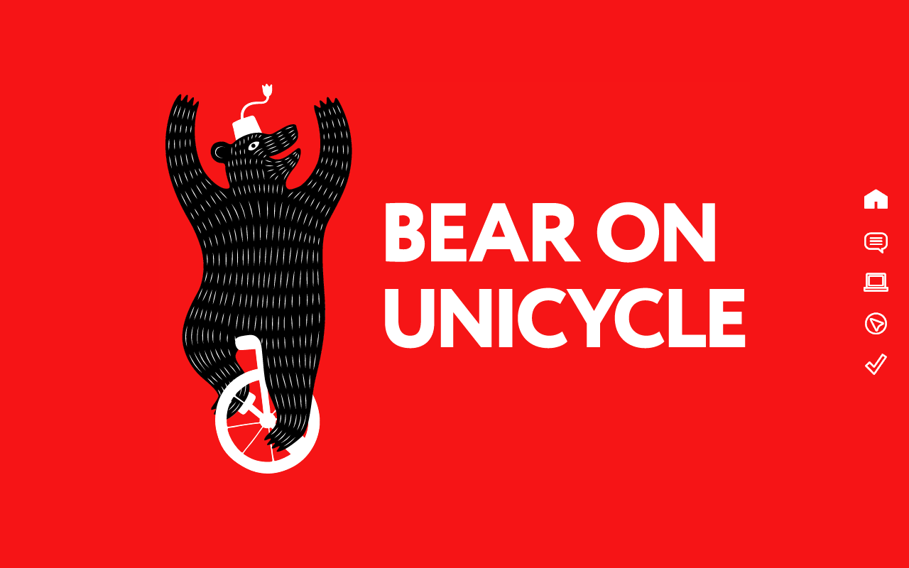 Bear On Unicycle Website Screenshot