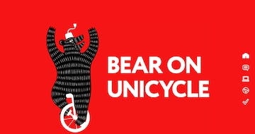 Bear On Unicycle Thumbnail Preview