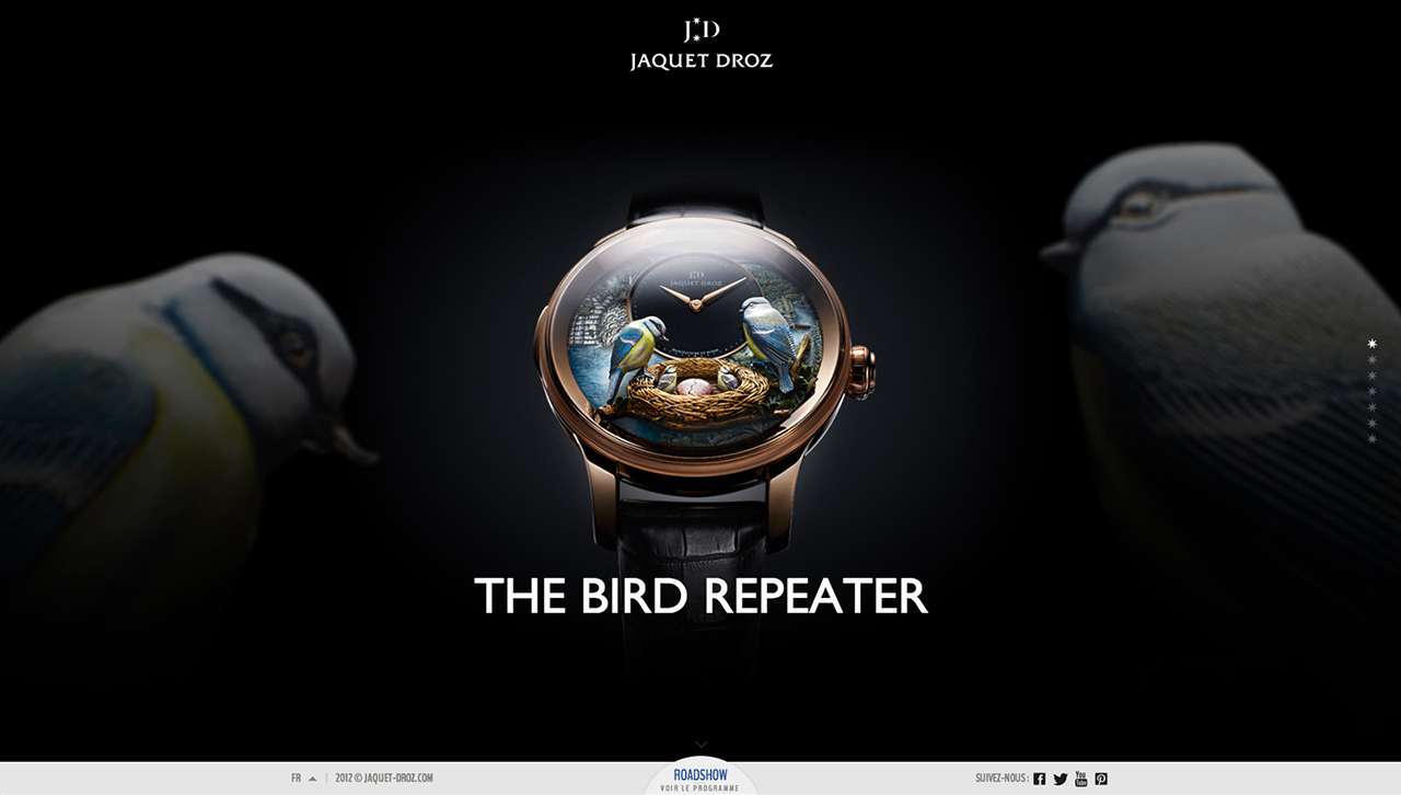 Bird Repeater by Jaquet Droz Website Screenshot