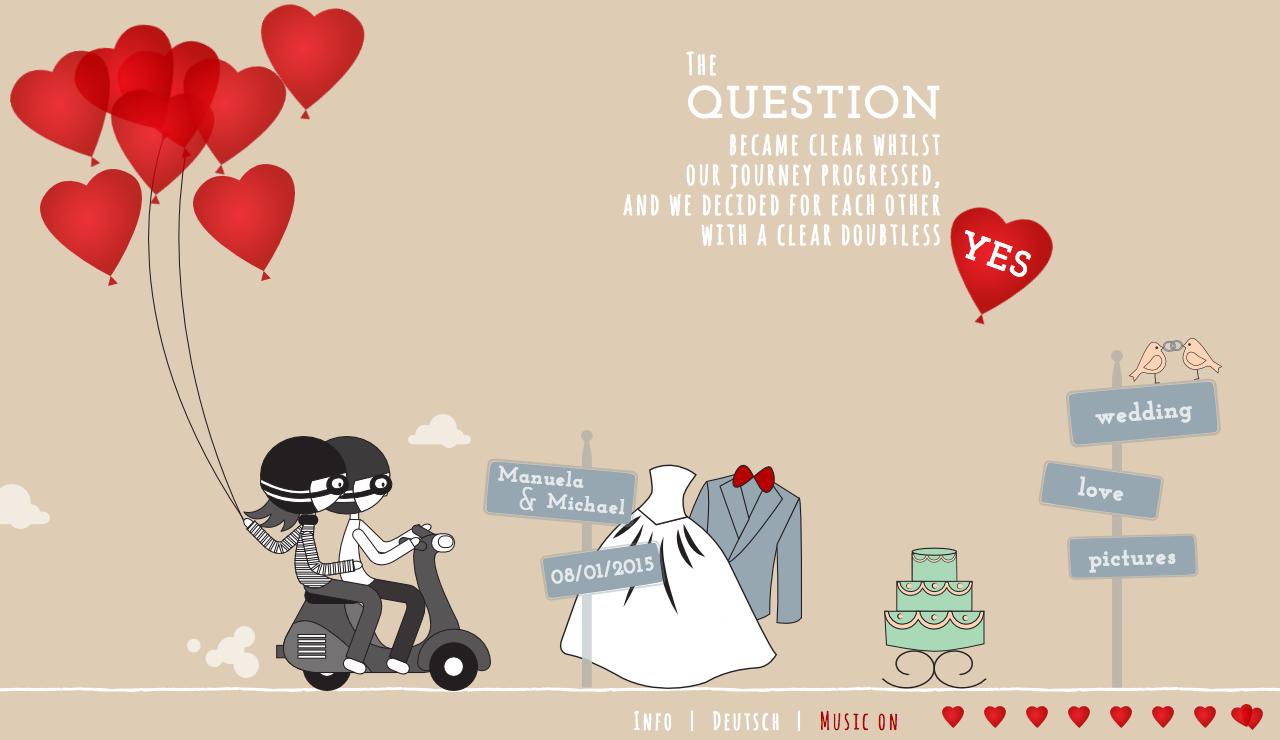 Love Is In The Air Website Screenshot