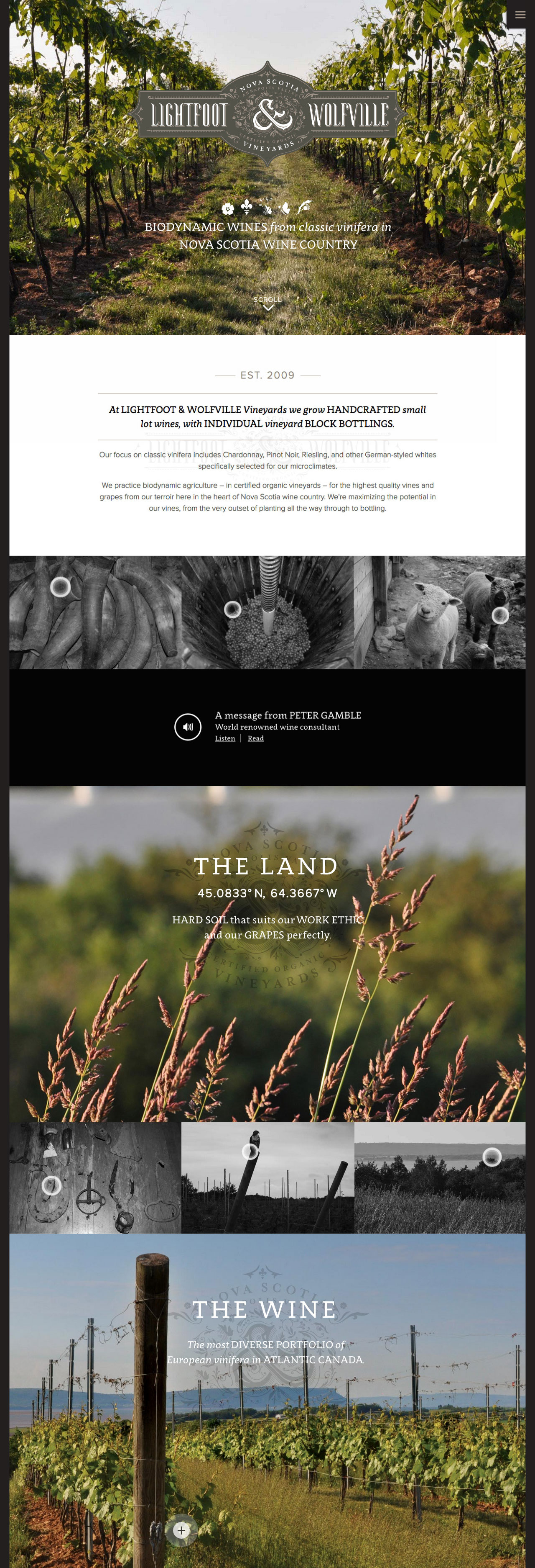 Lightfoot & Wolfville Website Screenshot