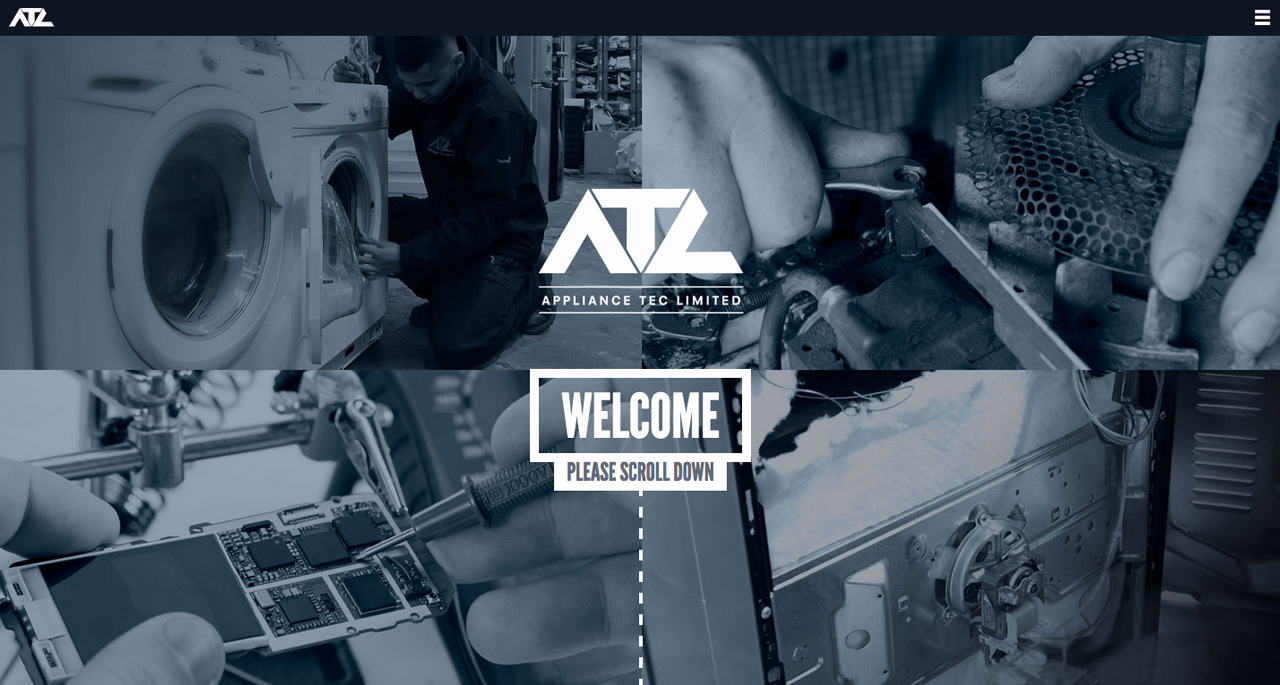 Appliance Tec Limited Website Screenshot